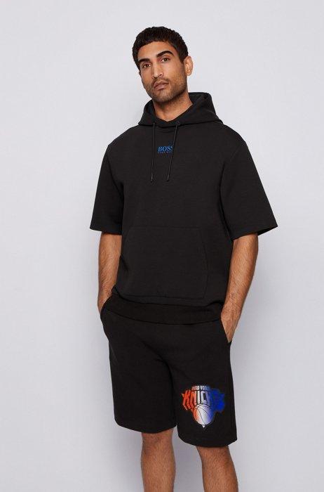 Sweat à capuche et manches courtes BOSS x NBA avec logo d'équipe, Noir