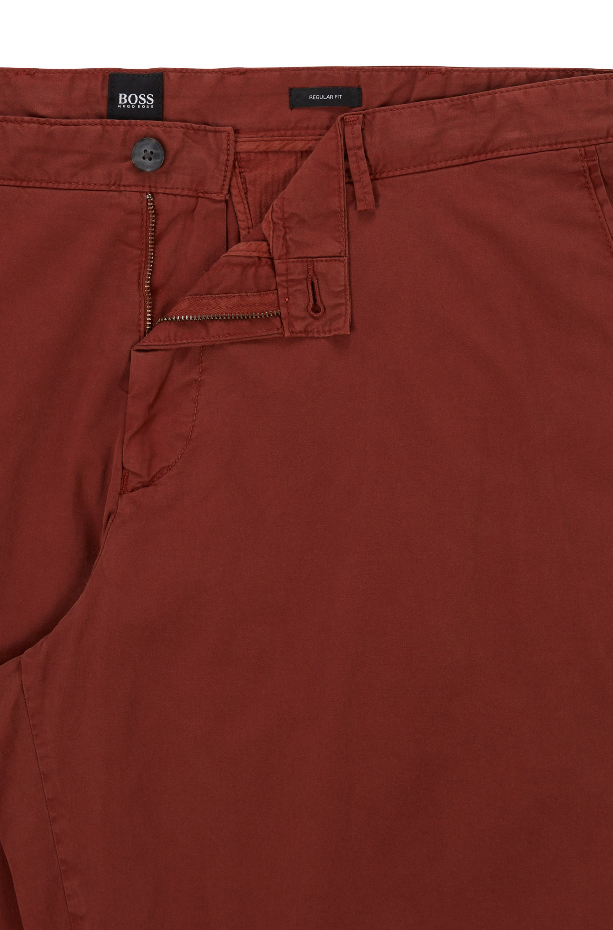 Garment-dyed shorts in stretch-cotton twill
