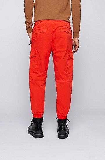 弹力棉宽松工装裤,  821_Bright Orange