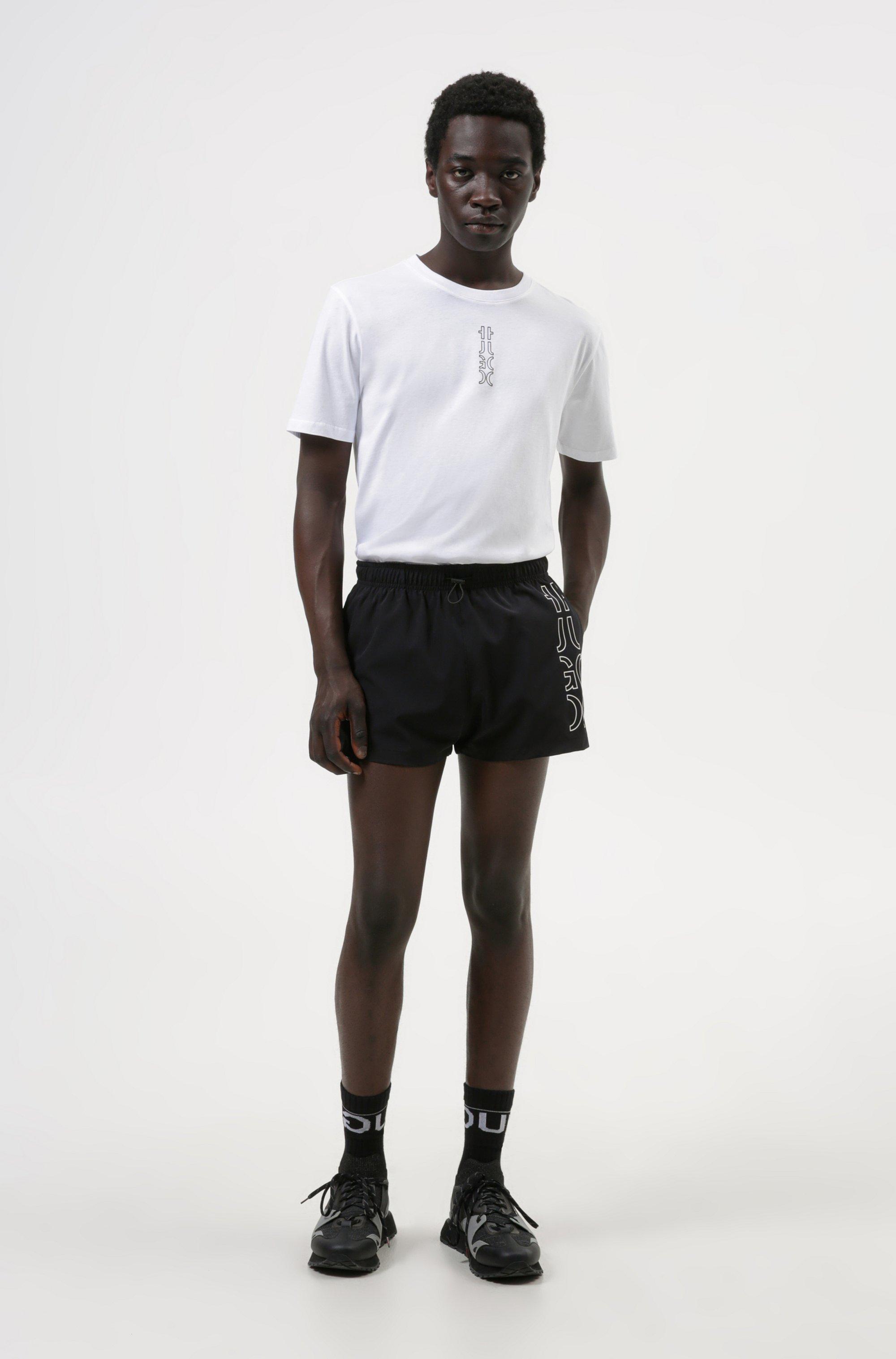 Cropped-logo T-shirt in organic cotton