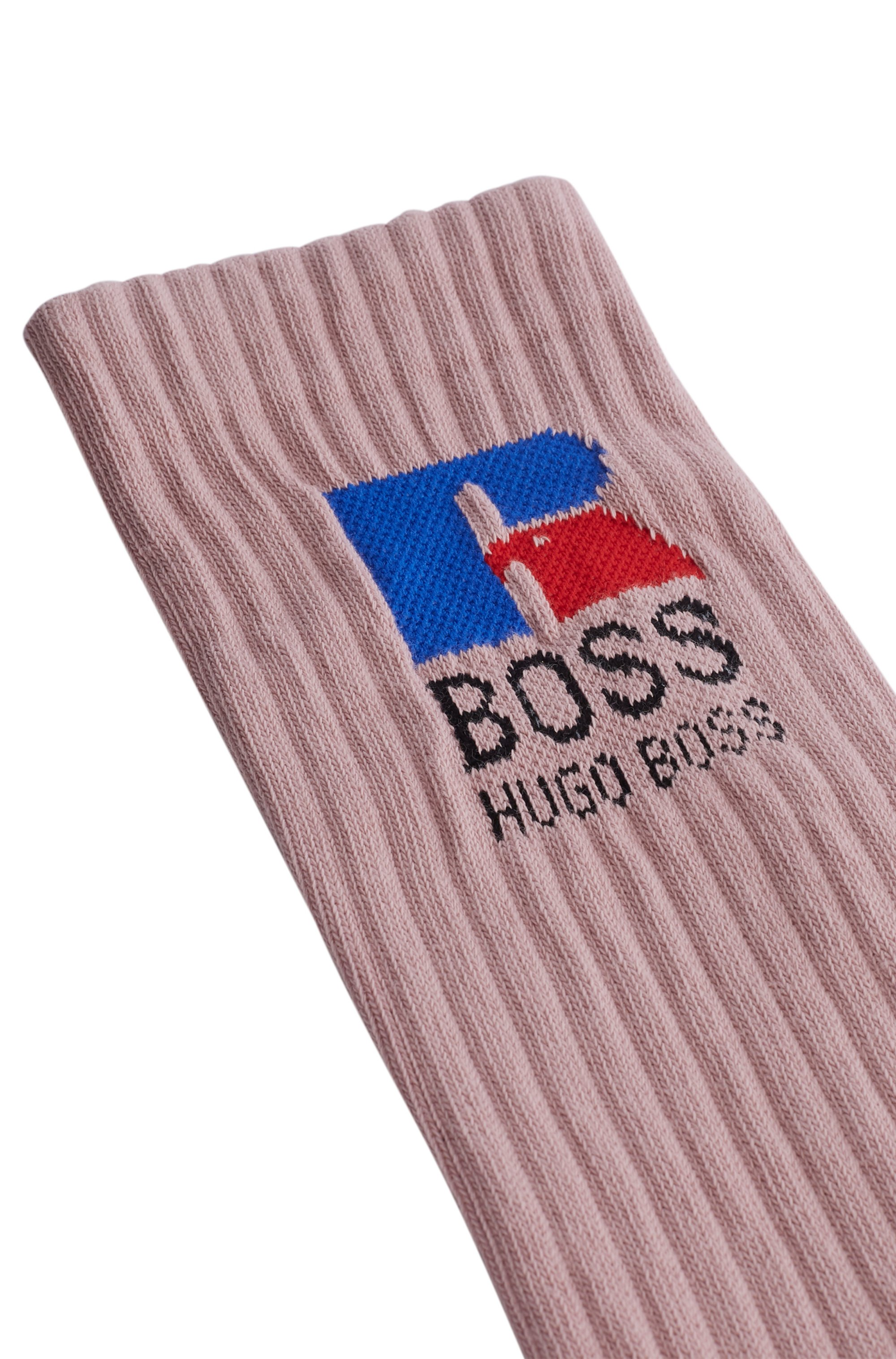 Quarter-length socks in stretch fabric with exclusive logo