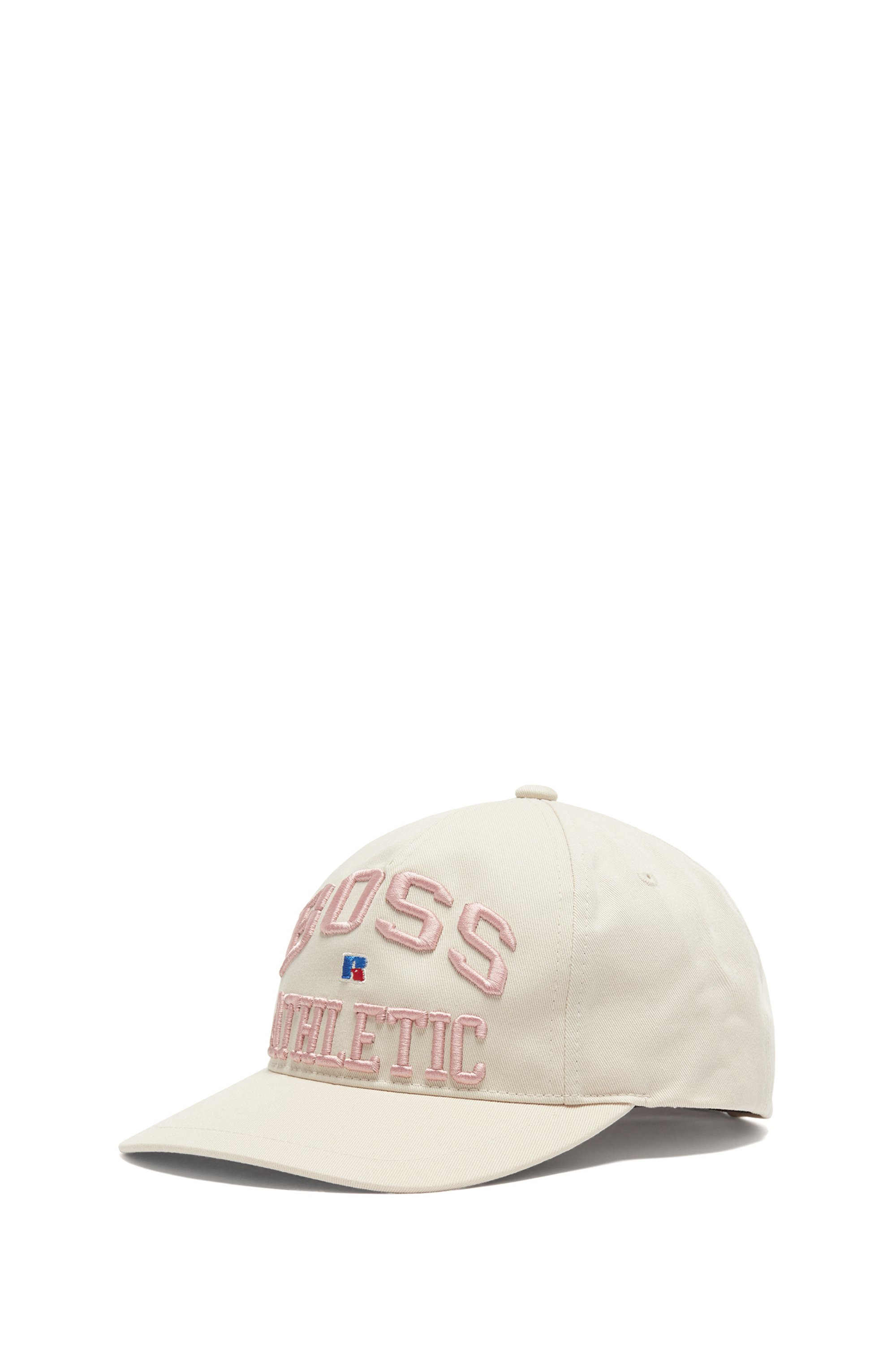 Cotton-twill cap with exclusive logo embroidery, Light Beige