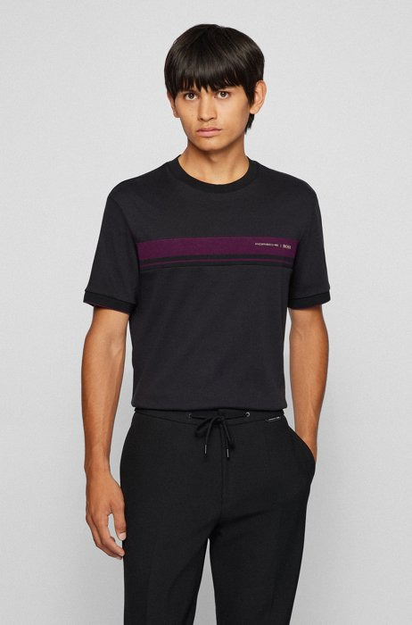 Organic-cotton T-shirt with capsule logo, Black