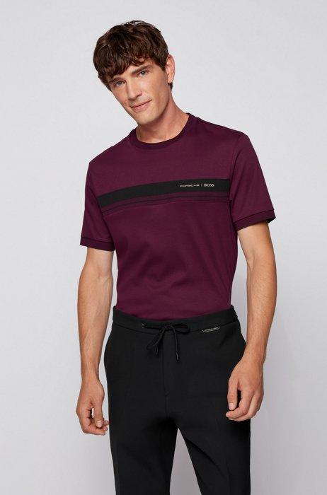 Organic-cotton T-shirt with capsule logo, Purple