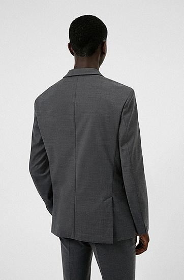 可水洗高性能弹力面料可压紧修身西装,  021_Dark Grey