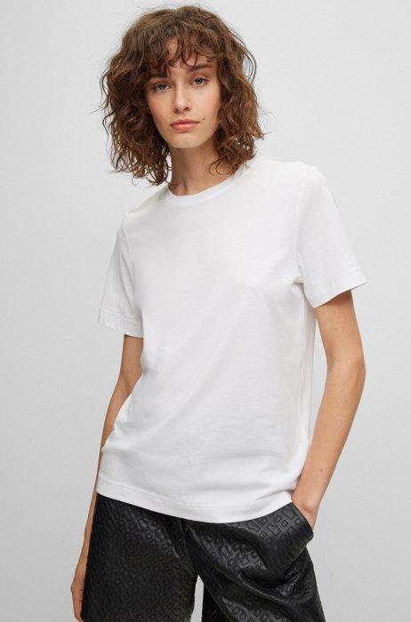 T-shirt Relaxed Fit en jersey de coton biologique, Blanc