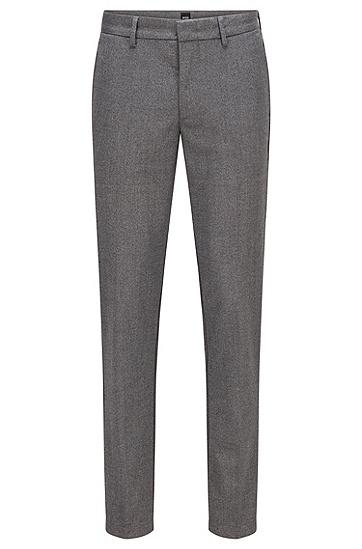 Mouliné 斜纹布修身休闲裤,  041_Silver