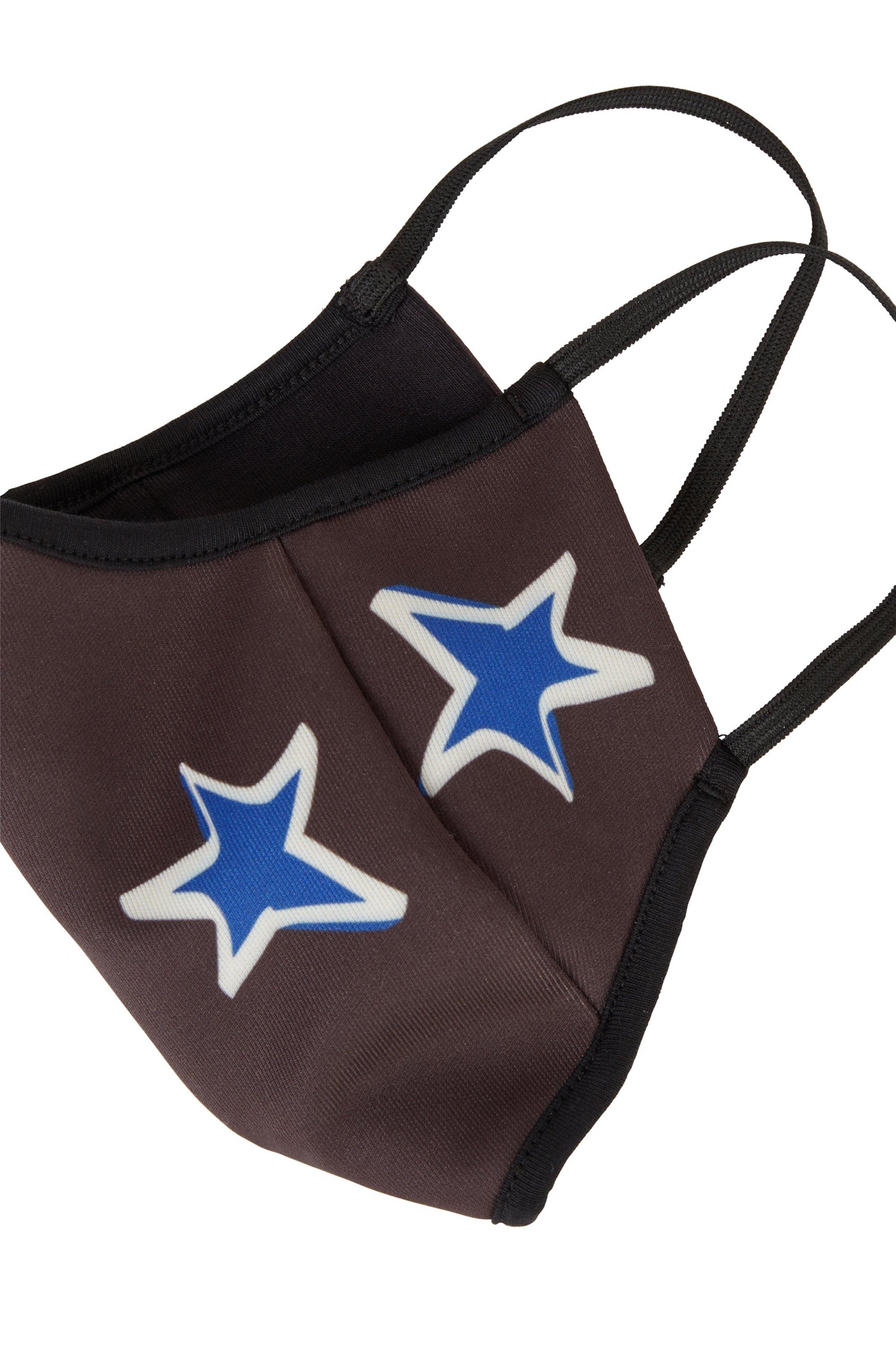 Masque facial en tissu stretch avec logo et étoiles
