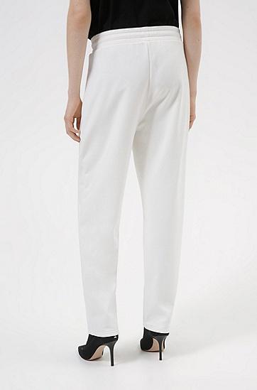 棉质混纺常规版型运动裤,  102_Natural