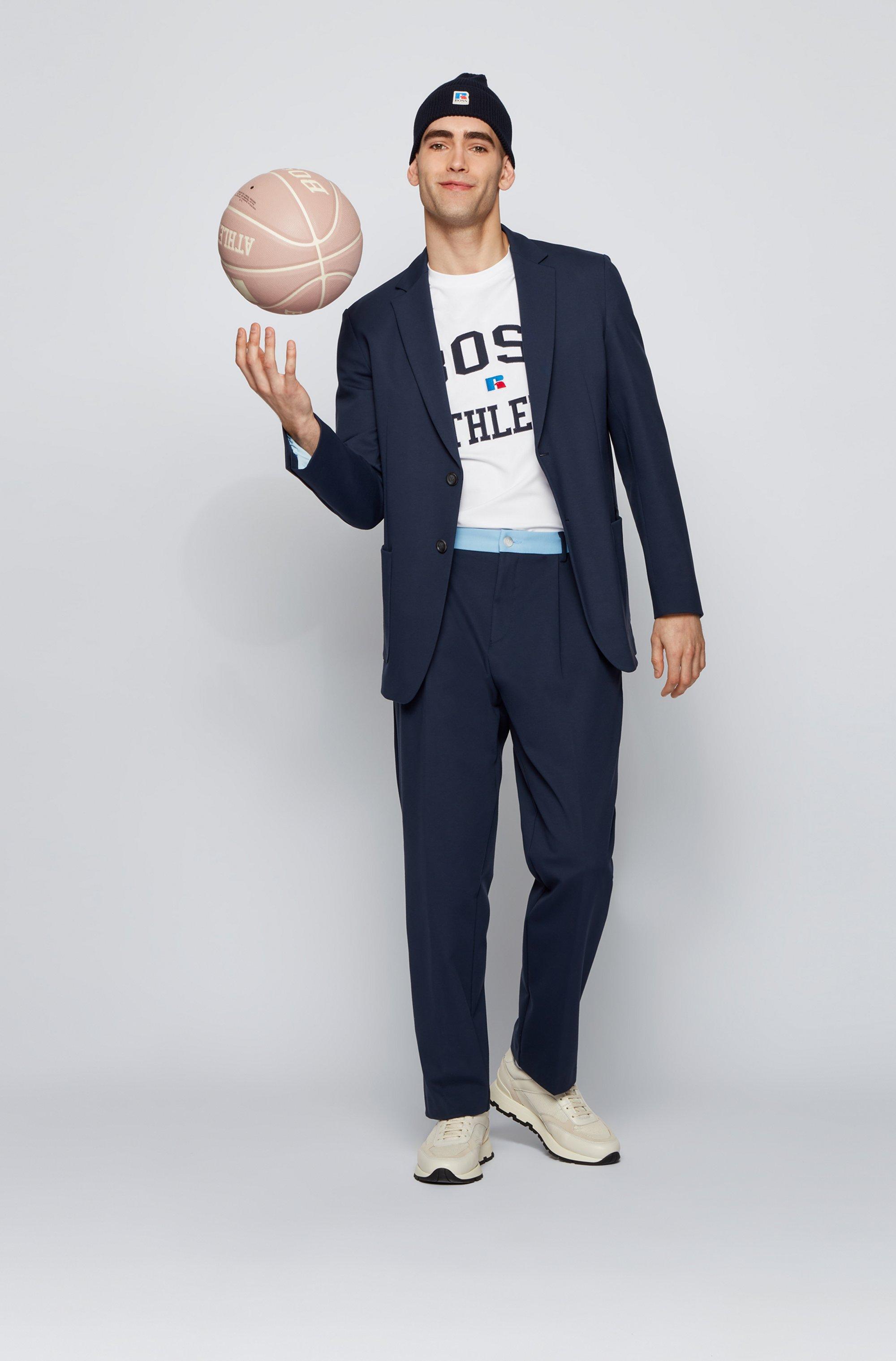 Camiseta unisex relaxed fit en algodón elástico con logo exclusivo