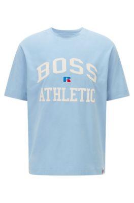 Pacco da 3 Pezzi Open Blue 497 BOSS T- Shirt Col Rond Maglietta Regular Fit Uomo Blu Small