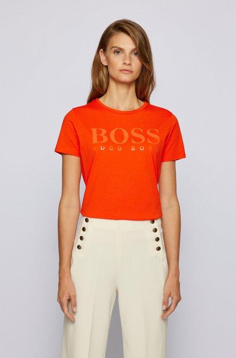T-shirt Slim Fit avec logo brillant , Orange