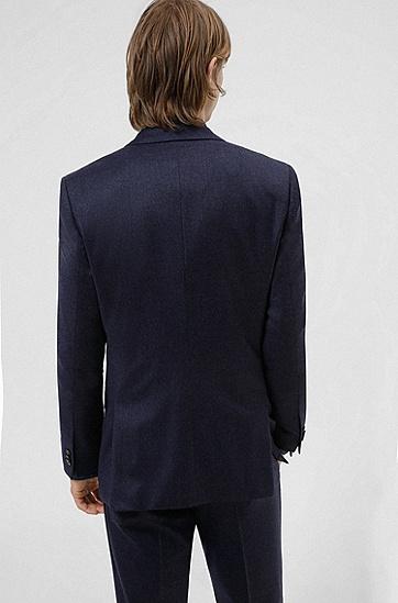 混色弹力羊毛面料修身西装,  429_Medium Blue