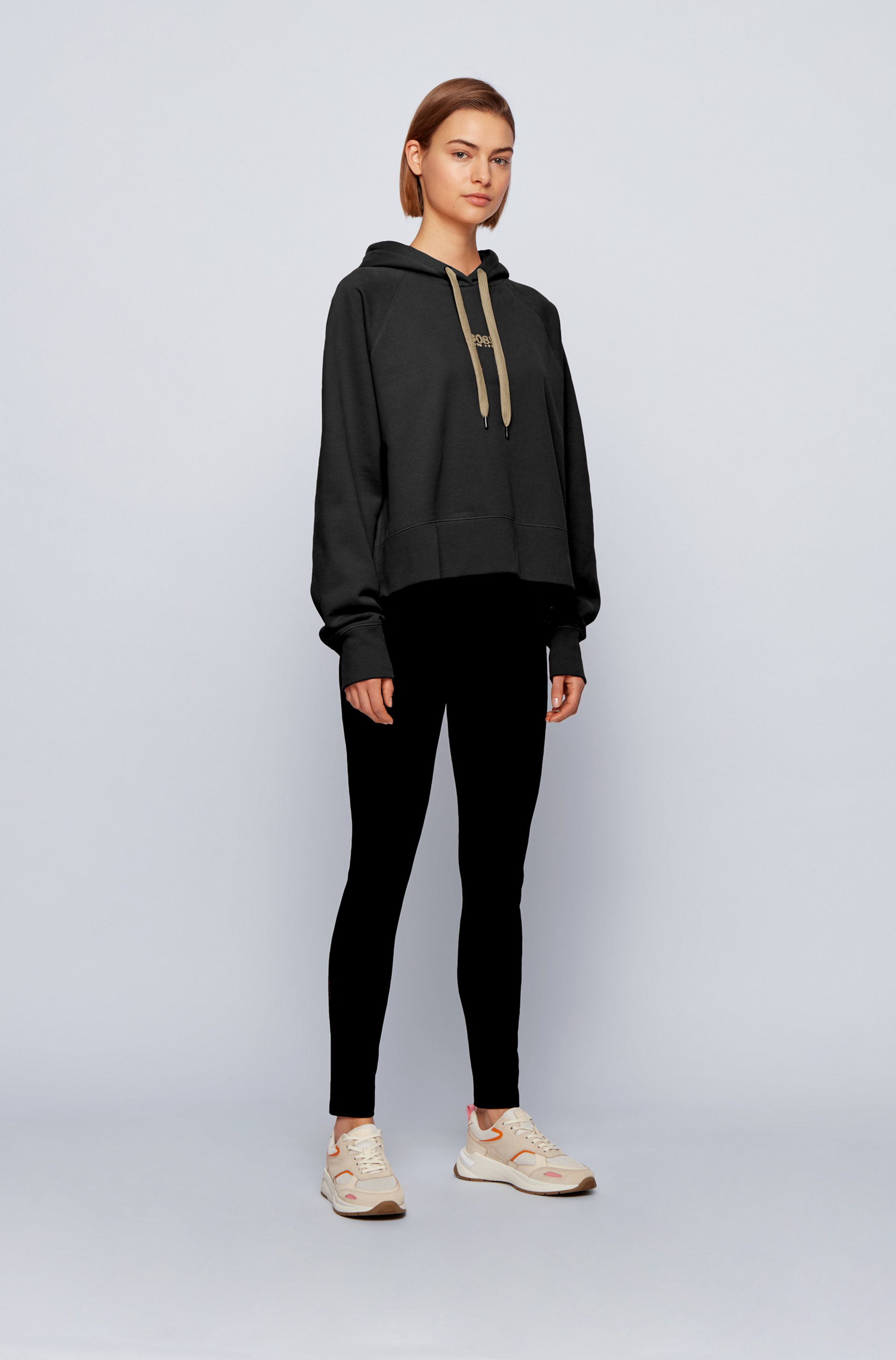 Oversized-fit hoodie in French terry with logo detailing