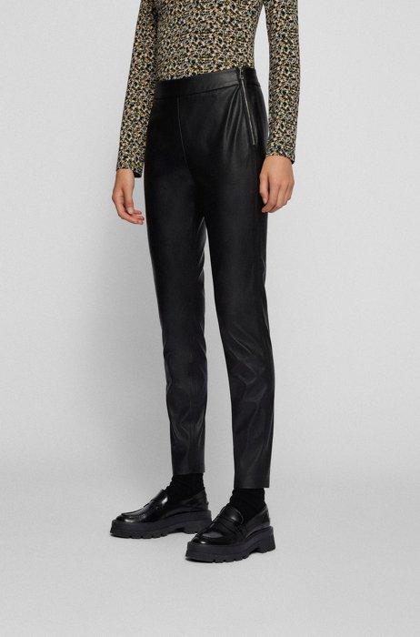 Skinny-fit leggings in faux leather, Black
