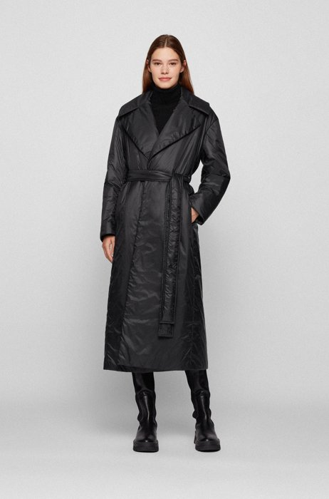 Relaxed-fit down coat in water-repellent fabric, Black