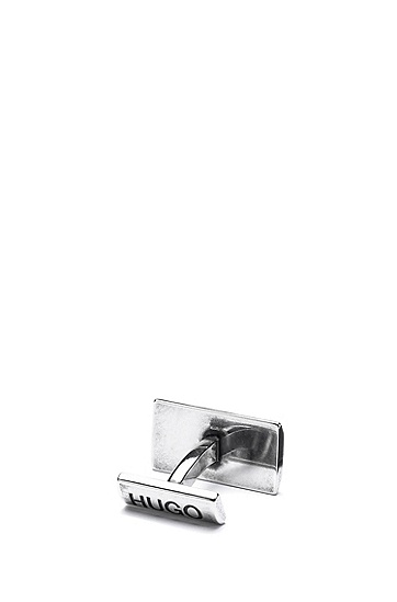 不锈钢蛇纹袖扣,  041_Silver