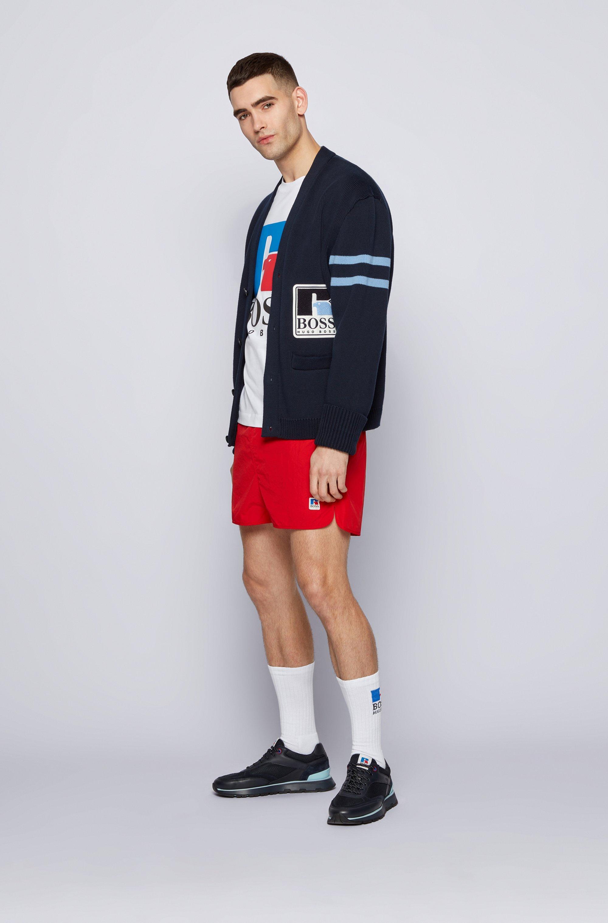 T-Shirt aus Stretch-Baumwolle mit exklusivem Logo