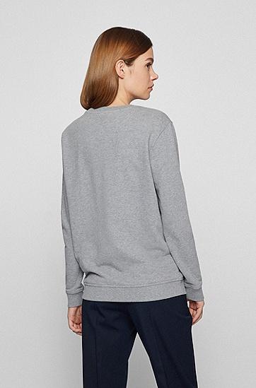棉质徽标图案运动衫,  040_Silver