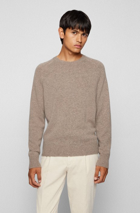 Regular-fit sweater in pure cashmere  , Light Brown