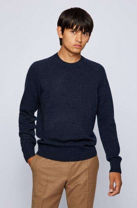 Regular-fit sweater in pure cashmere  , Dark Blue