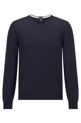 New BLACK Hugo Boss Men/'s Jumper Sweater Size M