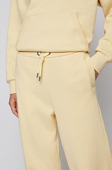 棉质混纺平纹针织面料宽松版型运动裤,  745_Light/Pastel Yellow