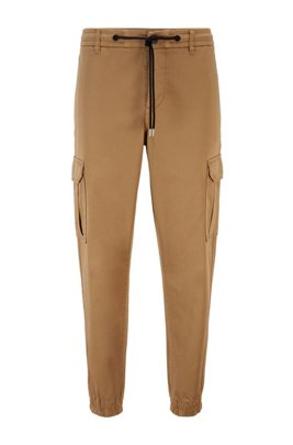 Tapered-Fit Cargo-Hose aus Stretch-Baumwolle, Beige