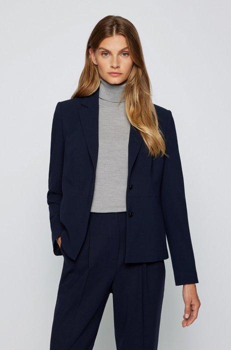 Regular-fit jacket in a wool blend, Light Blue