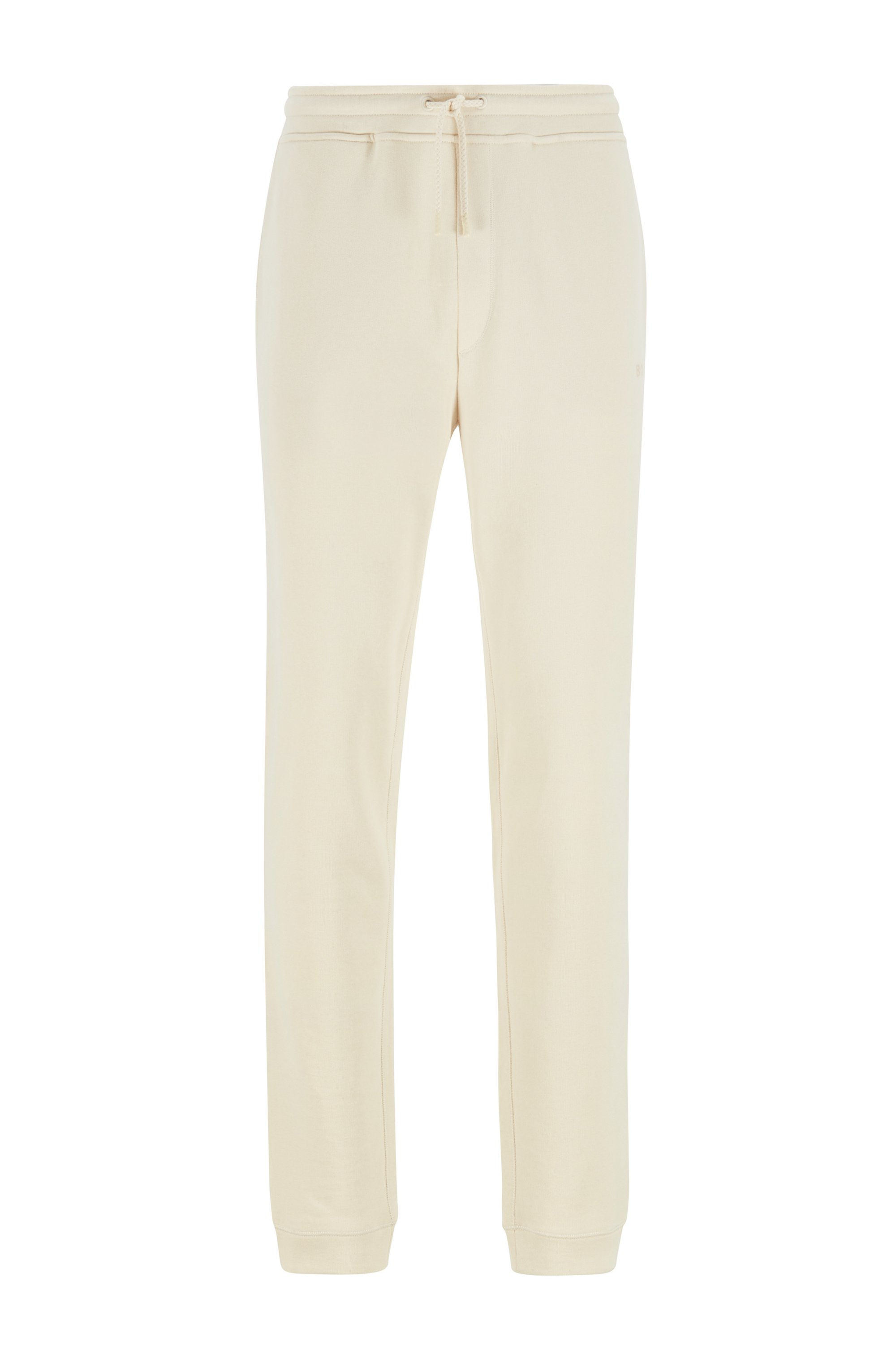 Logo tracksuit bottoms in cotton-blend French terry, White