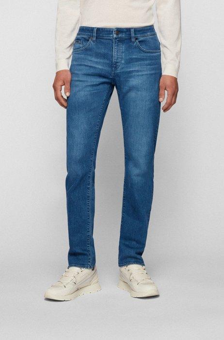 Jean Slim Fit bleu en denim stretch confortable, Bleu