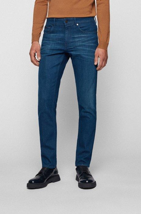 Jean Extra Slim Fit en denim bleu offrant une très grande liberté de mouvement, Bleu foncé