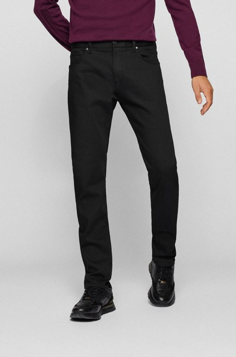 Black tapered-fit jeans with REPREVE® and TENCEL™ Lyocell, Black