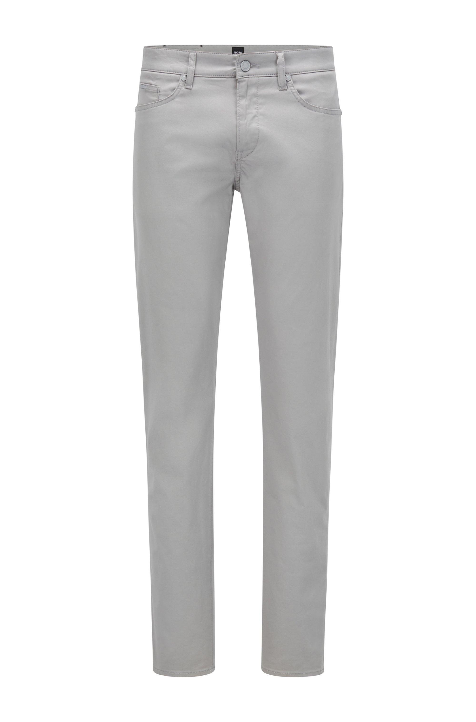 Jeans slim fit in comodo denim elasticizzato, Grigio chiaro