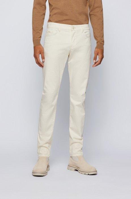 Jean Slim Fit en denim stretch confortable, Blanc