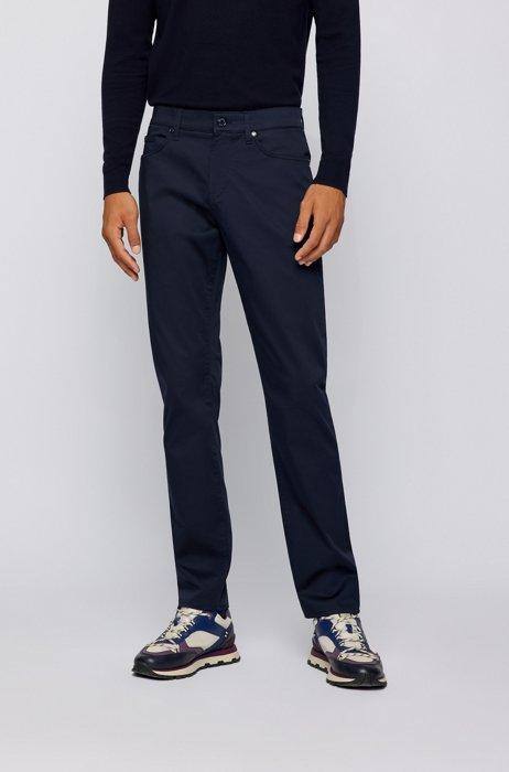 Jeans slim fit in comodo denim elasticizzato, Blu scuro