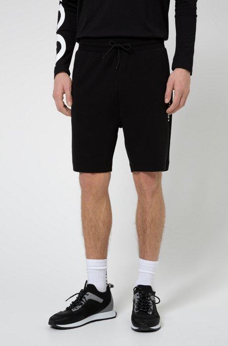 Short Regular Fit en coton à logo vertical revisité, Noir