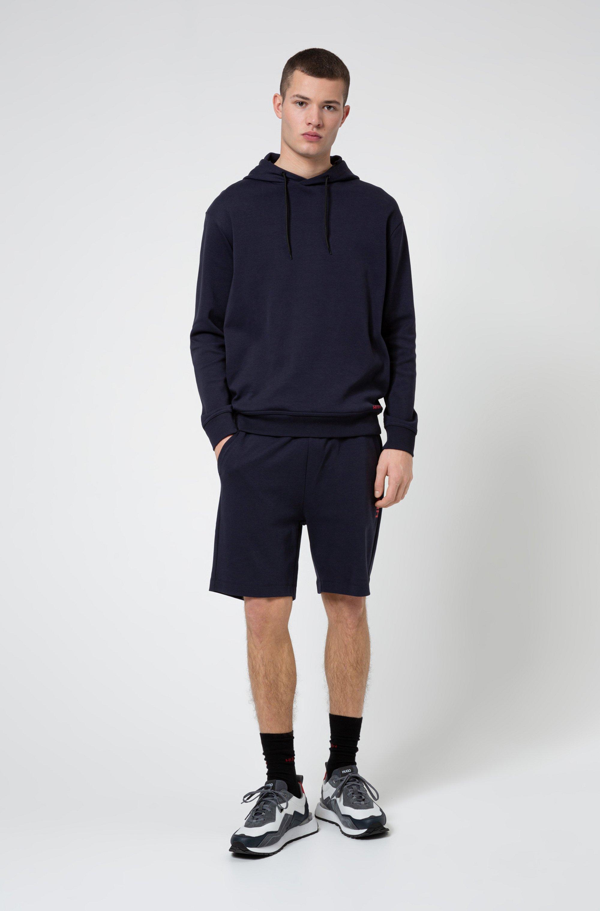 Short Regular Fit en coton à logo vertical revisité