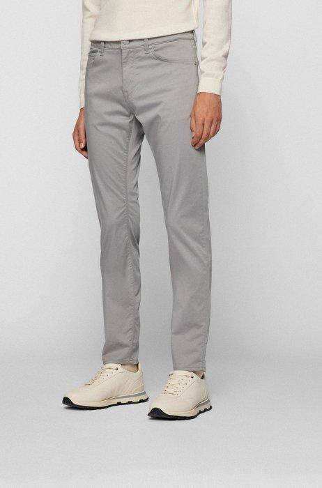 Regular-fit jeans in comfort-stretch denim, Light Grey