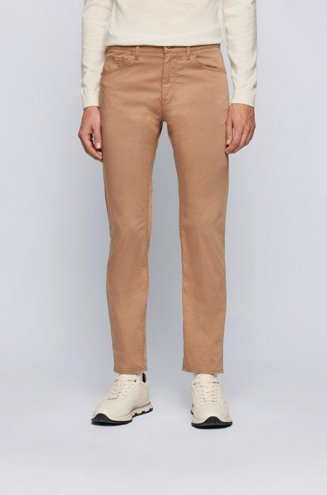 Regular-fit jeans in comfort-stretch denim, Beige