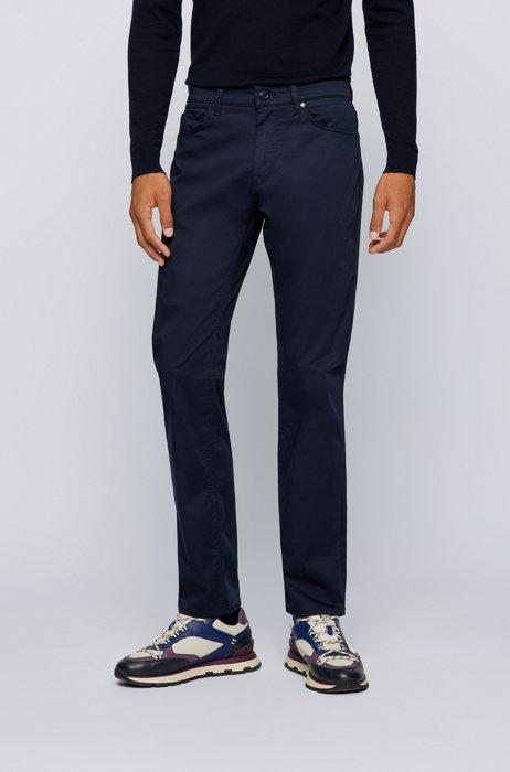Regular-fit jeans in comfort-stretch denim, Dark Blue
