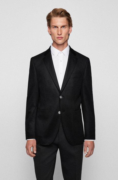 Regular-fit jacket in pure cashmere, Black