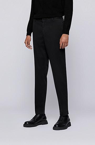 弹力棉成衣染色长裤,  001_Black