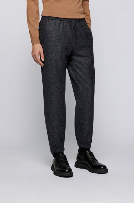 Relaxed-fit trousers in Vitale Barberis Canonico wool, Dark Grey