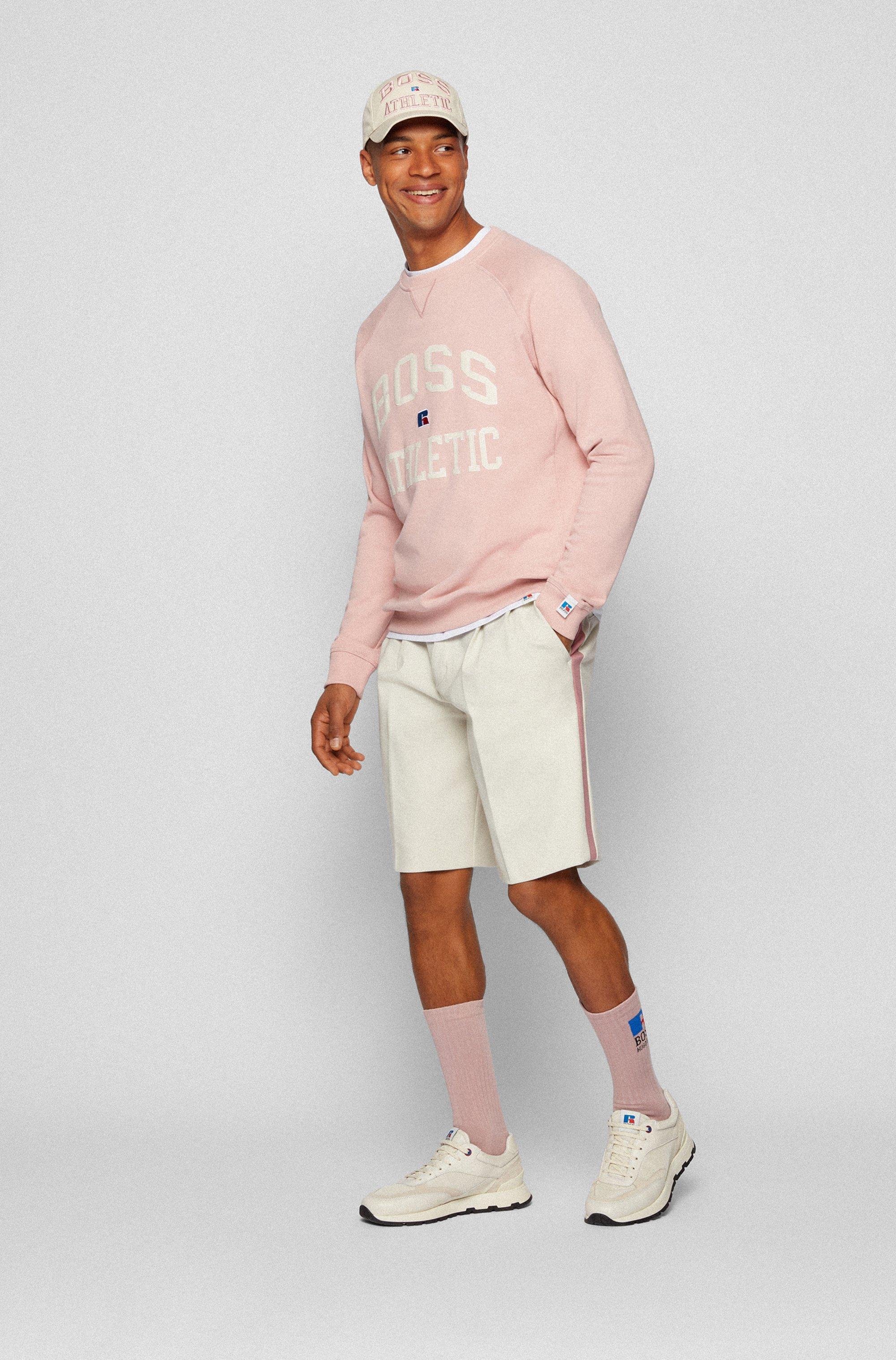 Tapered-Fit Shorts aus italienischem Jersey mit exklusivem Logo