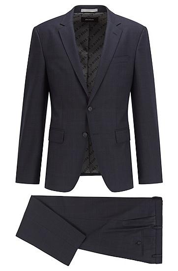 弹力羊毛高性能修身西装,  404_Dark Blue