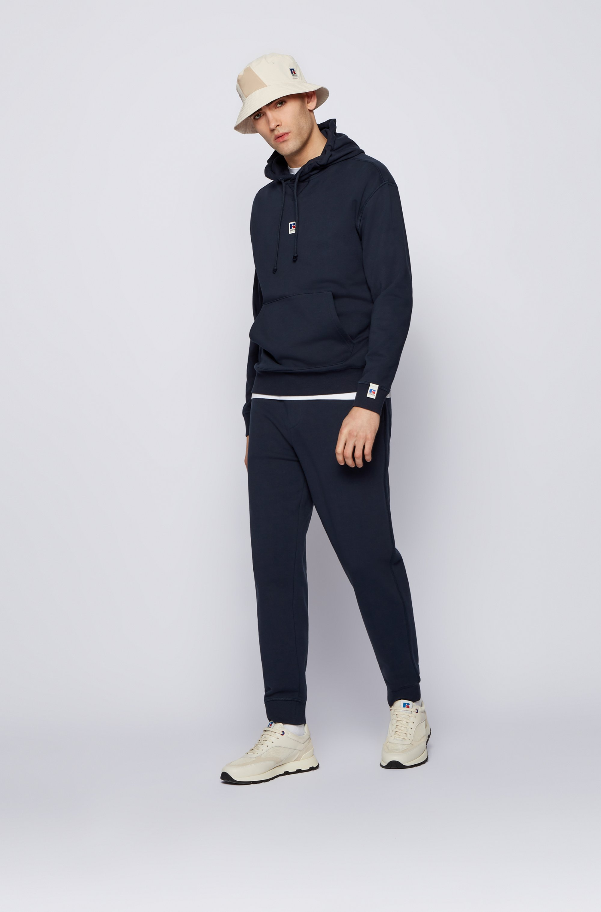 Relaxed-fit unisex hoodie in organic cotton with exclusive logo
