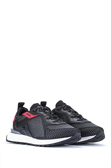 提花编织鞋面跑鞋式运动鞋,  021_Dark Grey