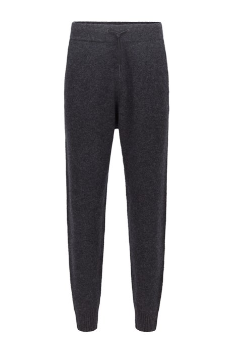 Regular-fit tracksuit bottoms with embroidered logo, Dark Grey
