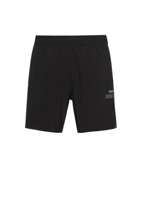 Capsule-print quick-drying swim shorts with REPREVE®, Black